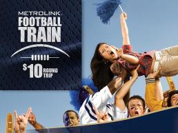 RCTC Metrolink Football Train Advert Image