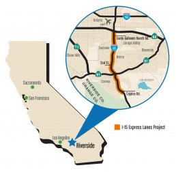 RCTC I-15 Express Lanes Project Map