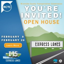 I-15 Open House Feb 8 and 28