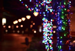Street with Christmas Lights