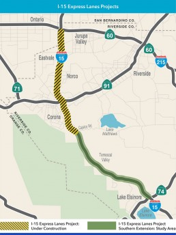RCTC 1-15 Express Lanes and Southern Extension Project combo image