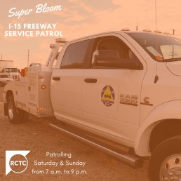 Freeway Service Patrol Added to Help Manage Super Bloom Traffic.