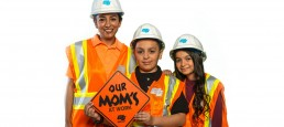 photo of caltrans worker with her children